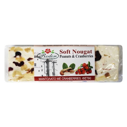 Picture of Soft Nougat with Cranberries and Peanuts 70g