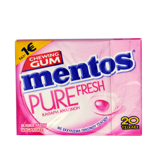MENTOS GUM PURE FRESH BUBBLE 30g