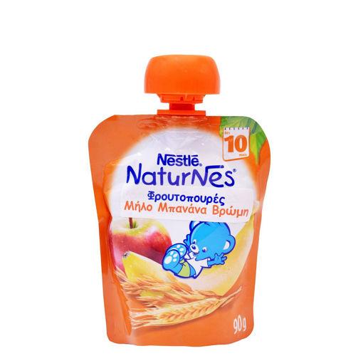 BABY FOOD NESTLE NATUR. ΜΠΑΝΑ-ΜΗΛΟ-ΒΡΩΜΗ 90g