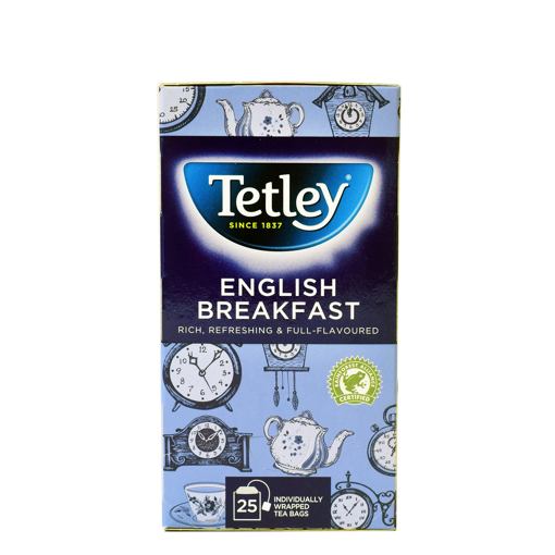 TETLEY 25s ENGLISH B/FAST 50g
