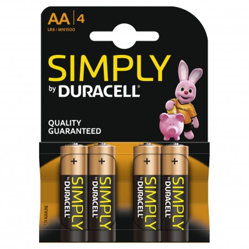 DURACELL SIMPLY AA 4TEM