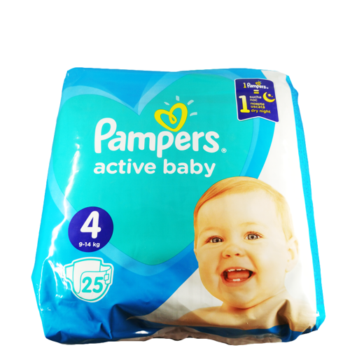 PAMPERS ACTIVE BABY No4  25Τ