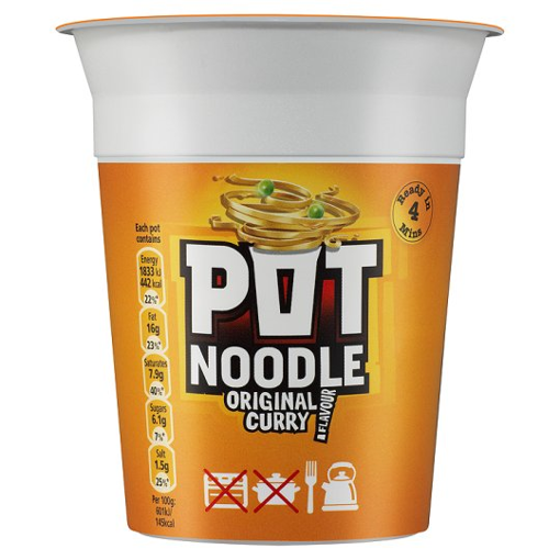 POT NOODLE NDL SPICY CURRY 12*89g